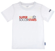 SUPER SOCCER STARS  YOUTH - ALL SIZES  T SHIRT  -- WHITE