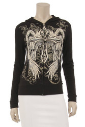 Jacket, Angel Wing Cross Plus Sizes