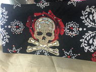 Bandana, Skull on Rose FREE SHIPPING