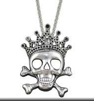 Necklace, Skull with  Crown