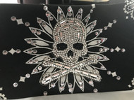 Bandana, Skull Rhinestone with Ring Of Bling MORE COLORS, FREE SHIP