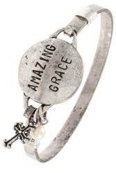 Bracelet, Amazing Grace Silvertone