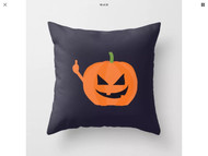 Pillow Cover, Halloween Pumpkin Middle  inger