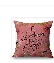 Pillow Cover, I Fucking Hate Everyone