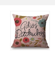 Pillow Cover, Adios Bitchachos