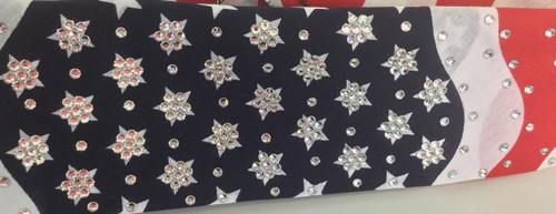 Bandana, over 270 Swarovski crystals.  We salute anyone who wears this outstanding American Flag, American made bandana!  Go Brazen Bombshell Finest!