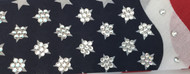 Bandana, American Flag 4 row FREE SHIPPING Regular Rhinestones