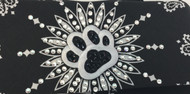 Woof! This #DogBandana paw print is loaded with Swarovski crystals on an American-made bandana!  You will knock them all dead wearing this stunner.  Shop all of the bandanas Go Brazen makes on line or swing on by their store in Red Wing, Minnesota