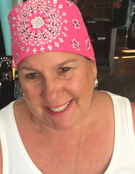 Bandana, Bombshell hot pink American made bandana loaded with Swarovski crystals!  Go Brazen makes Any color you want, check out all their bandanad  on line or swing on in their store in Red Wing, Minnesota