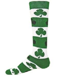 Blarney Knee High Shamrock Socks