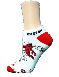 Bite Me Lobster Socks with Boston by For Bare Feet