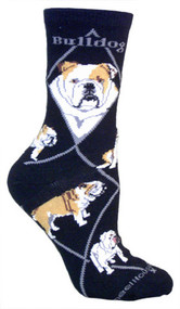 Bull Dog Socks by Wheel House Designs - Black