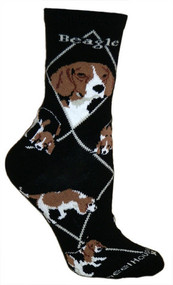 Beagle Socks in black by Wheel House Designs