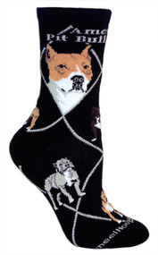 American Pit Bull socks by Wheel House Designs