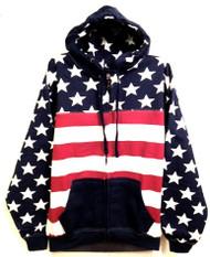 American Flag Full Zip Hoodie - front