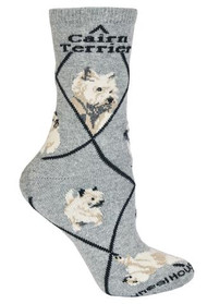 Cairn Terrier Socks by Wheel House Designs