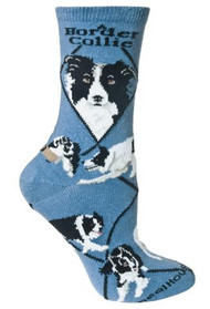Border Collie Socks by Wheel House Designs