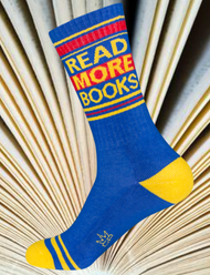 Read More Books socks by Gumball Poodle