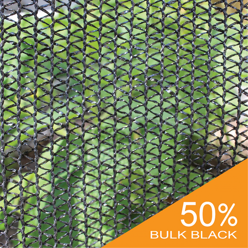 50% Black Bulk Shade Cloth