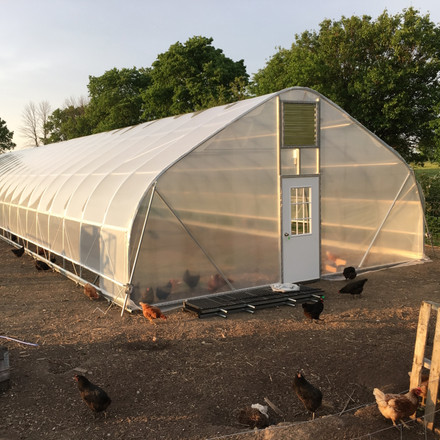 Adam's Greenhouse and Produce in Covington, Ohio adds a 24 ft. x 96 ft. High Tunnel to Meet Local Demand