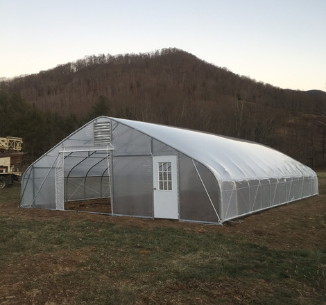 The Culinary Gardener in Asheville, NC gets a Tunnel Vision Hoops High Tunnel for Specialty Crop Production