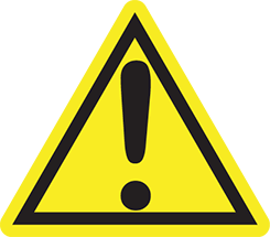 Warning Symbol California Prop 65
