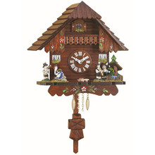 Quartz Pendulum Clock and Cuckoo Chime and Band