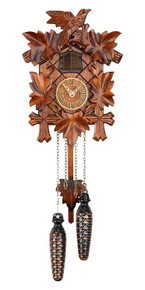 Black Forest Quartz Cuckoo Clock plays Cuckoo Chime & 12 Different Melodies