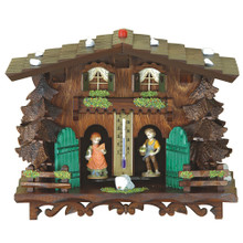 Weather House Deluxe with Wooden Figures