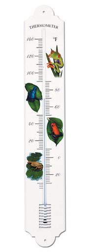 French Enamel Style Outdoor Thermometer Frogs Design Hokco