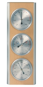Hokco Weather Station Wood Aluminum Beech