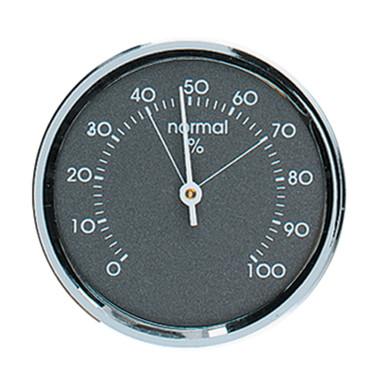 Analog Hygrometer 1.75 in. Chrome Metal Bezel Hokco