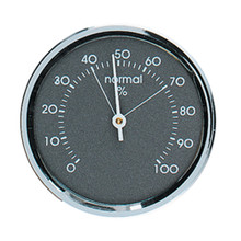 Analog Hygrometer 1.75 in. Chrome Metal Bezel Hokco
