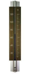 Analog Wall Thermometer Aluminum Bronze