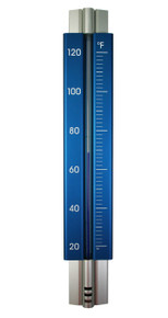 Analog Wall Thermometer Aluminum Medium Electric Blue Hokco