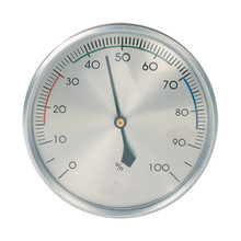 Analog Hygrometer Brushed Aluminum