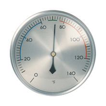 Analog Thermometer Brushed Aluminum