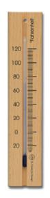 Wall Analog Thermometer Beech Natural Finish Hokco