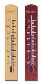 Analog Wall Thermometer Beechwood 2 Finishes Hokco
