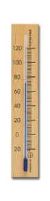 Wall Analog Thermometer Beech Natural Finish Hokco