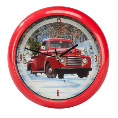 Ford F1 Holiday Pickup Truck 8 inch Sound Clock