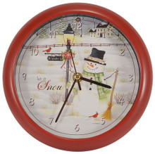 Lisa Kennedy Let it Snow 8 inch Sound Clock Licensed Granted by Penny Lane Art and Publishing Inc