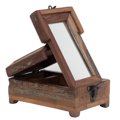 Authentic-Models-HA013-Wooden-Travel-Barber-Box-Side