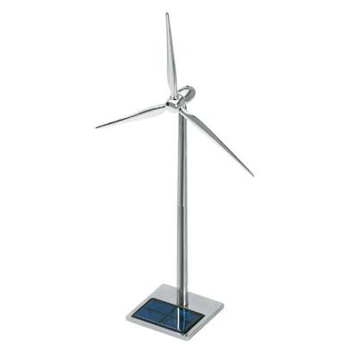 Solar Powered Metal Wind Turbine Desktop Model 19 inch