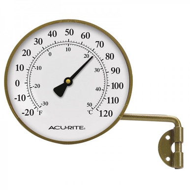 Brass Thermometer with Swivel Bracket