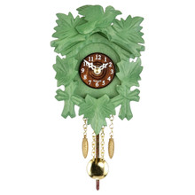 Black Forest Quartz Pendulum Clock and Cuckoo Chime Green