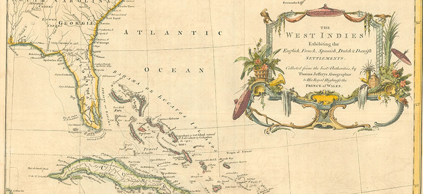 The West Indies Vintage Map Exhibiting English French Spanish Dutch Settlements