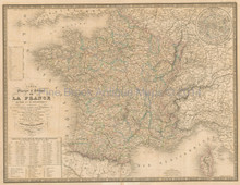 France Antique Map Andriveau-Goujon 1837