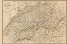 Switzerland Antique Map Andriveau-Goujon 1837
