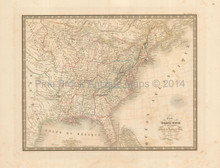 United States Antique Map Andriveau-Goujon 1837